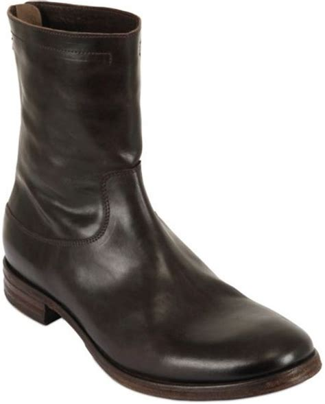 shoto mens boots shoto brushed leather boots in brown for lyst