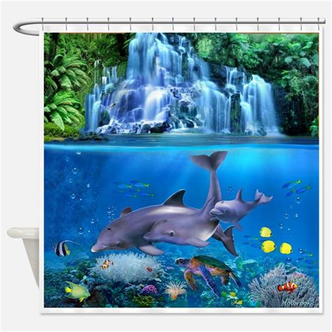 dolphin shower curtains dolphin art shower curtains dolphin art fabric shower