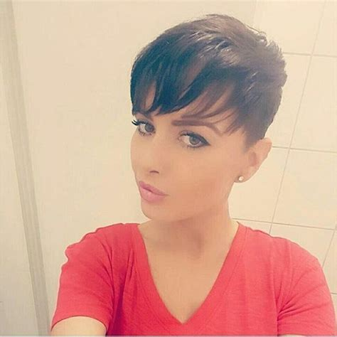 shaved hairstyles with long bangs 1000 ideas about shaved sides pixie on pinterest shaved