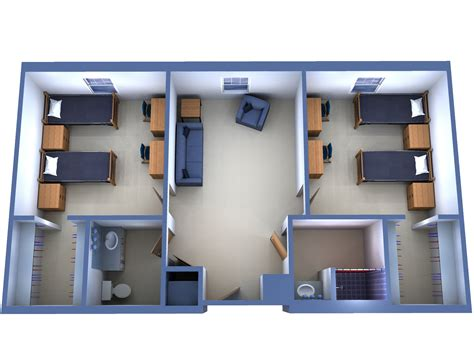 3 Bedroom House Floor Plans by Fau Indian River Towers Irt