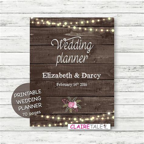 diy wedding binder templates printable wedding planner on rustic wood background by
