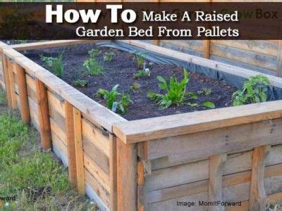 how deep should a raised garden bed be 17 best ideas about pallet garden box on pinterest