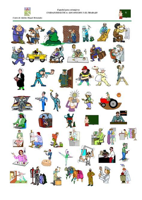imagenes de profesiones en ingles y español unidad did 225 ctica las profesiones y el trabajo