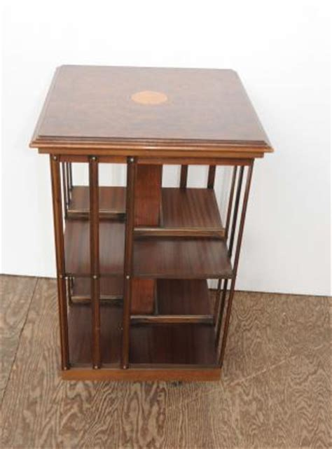 bookcase side table canonbury antiques regency walnut revolving bookcase side