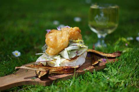 poached salmon rillettes  smoked eel  coxs apple salad