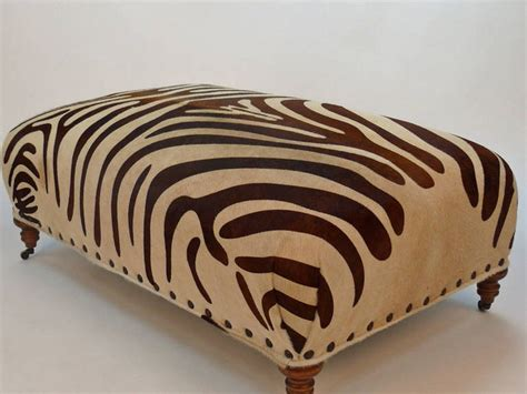 brown zebra ottoman zebra print bar stools in brown home design ideas