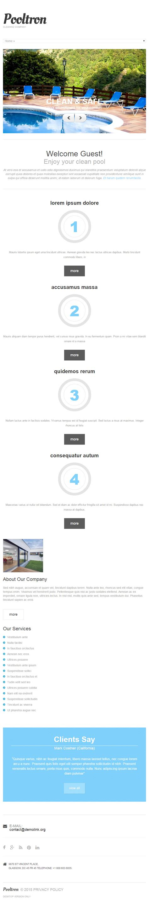 drupal themes responsive premium pool cleaning premium responsive drupal theme