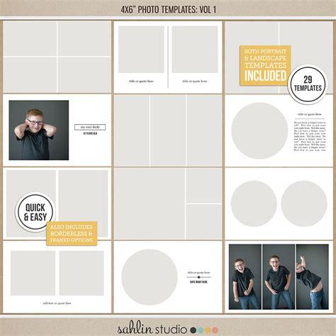 4x6 Photo Templates Vol 1 Sahlin Studio Digital Scrapbooking Designs 4x6 Design Template