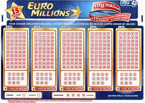 Grille D Euromillions by Coupon De R 233 Duction Fdj Grille D Millions 224 1