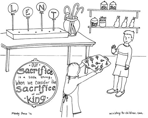 free lenten coloring pages of kids
