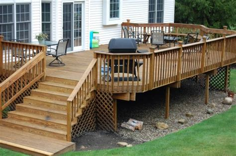 Deck Pictures And Ideas Wood Patio Designs