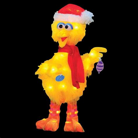 sesame street 18 in led big bird with scarf 90107 mp1