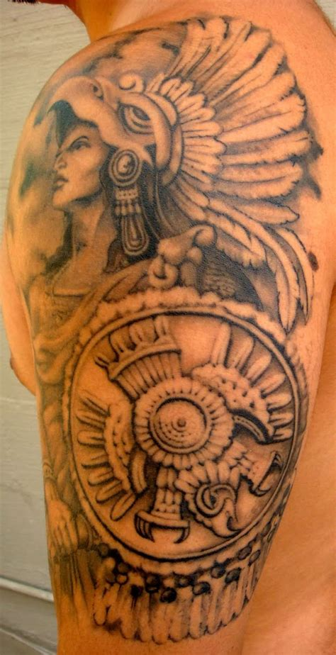 aztec sleeve tattoos designs 15 aztec designs and images