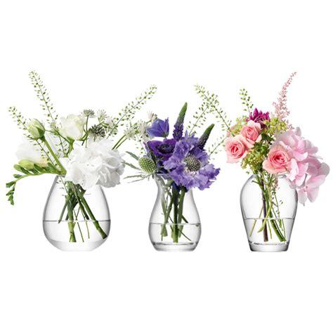Flower Set 3 lsa international flower mini vase gift set set of 3 at lewis