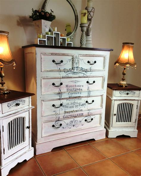 matching desk and dresser shabby chic dresser and matching bedside set