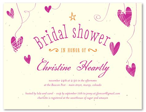 The Wedding Date Shower by Eco Friendly Bridal Shower Invitations Scattered Hearts