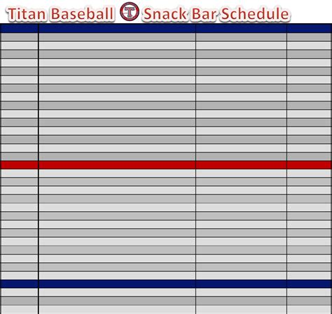 baseball calendar template baseball snack schedule template for free