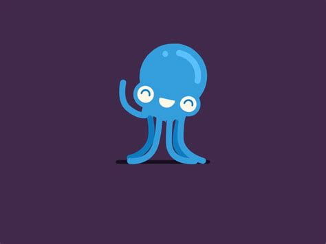 blue sexually graphic octopus gif to be octopus illustration and timeline