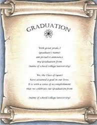 free graduation announcement templates graduation announcement templates clip wording