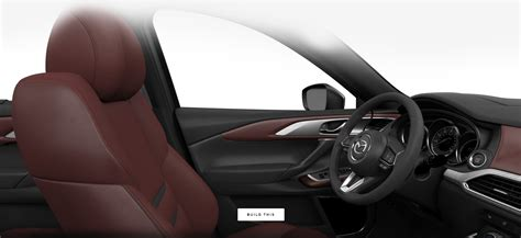 Leather Trimmed Upholstery - 2019 mazda cx 9 interior seating trim fabric and color