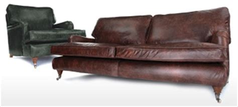 howard shabby chic leather sofa from old boot sofas