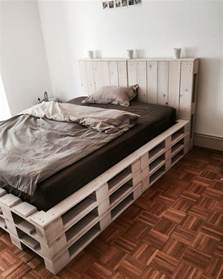 Wood Pallet Bed Frame For Sale Selfmade Pallet Bed Selfmade Beds