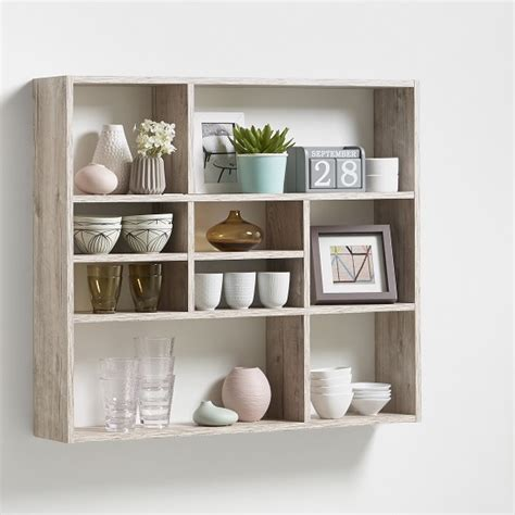 wall mounted shelving units andreas wall mounted shelving unit in sand oak and 9