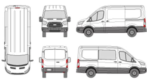 Mr Clipart Ford Transit Vector Template