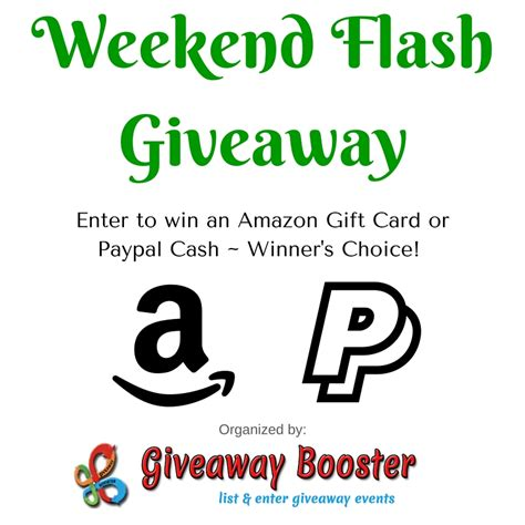 Flash Giveaway - weekend flash giveaway ends 10 16 16 giveaway booster