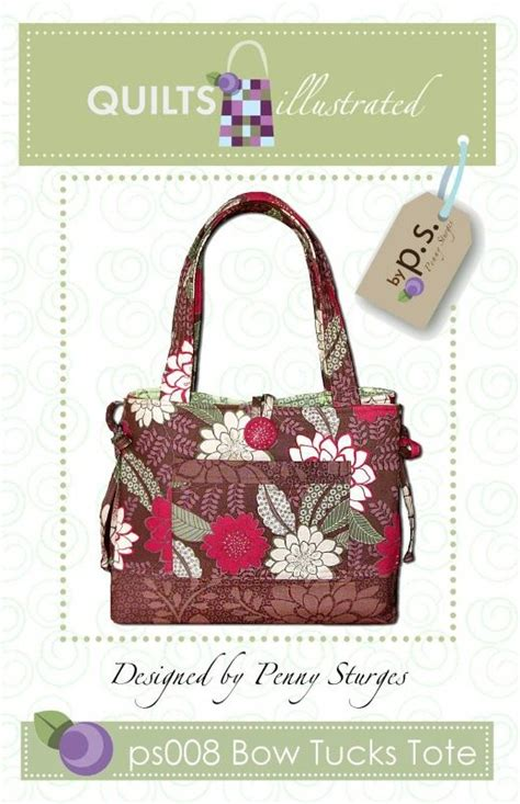 tote bag pattern with bow ps008 bow tucks tote pattern