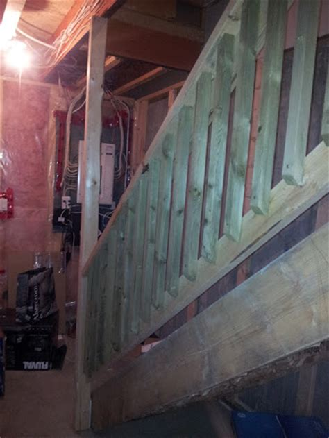 load bearing stud next to basement staircase