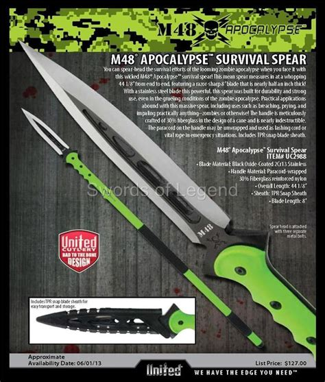 apocalypse spear m48 apocalypse survival spear by united cutlery