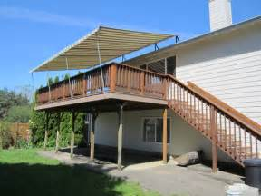 Awning Deck Deck Pipe Frame Canopy Traditional Deck Portland