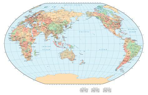 asia and australia map map of world australia centered world map