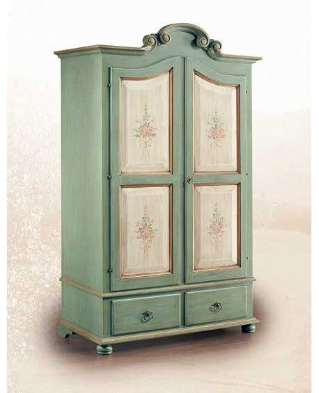 armadio decorato armadio legno massello decorato a mano made in italy