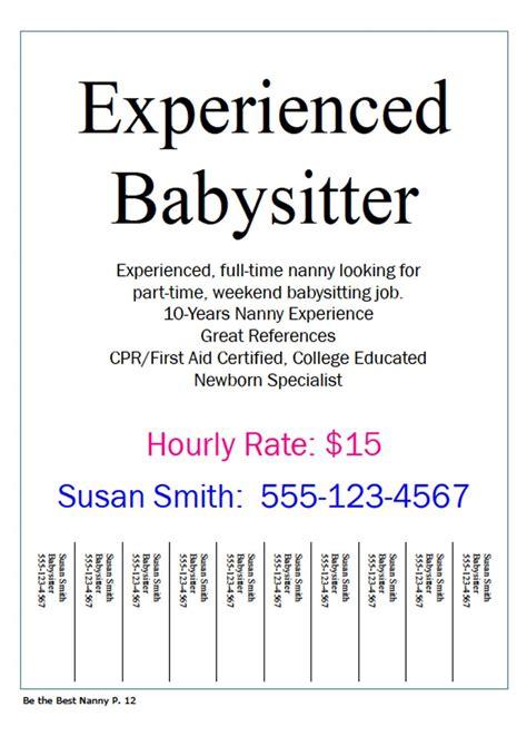 24 best babysitting flyers images on pinterest babysitting