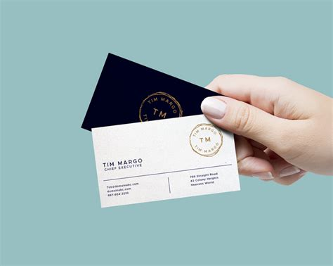 Holding Business Card Template by Holding Business Card Mockup Free Template