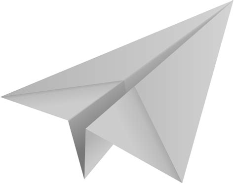light gray paper plane paper aeroplane vector icon data