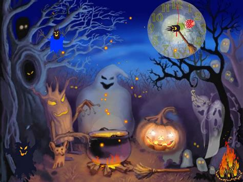 free animated halloween screensavers festival collections