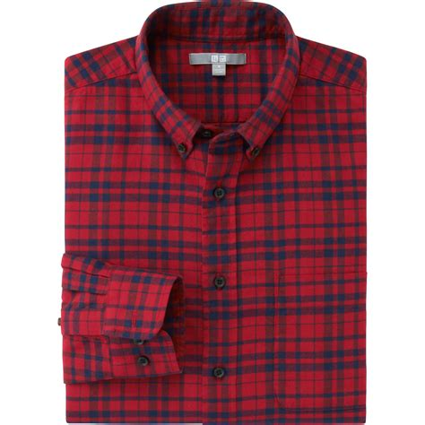 Uniqlo Flannel Shirt uniqlo flannel check sleeve shirt in for lyst