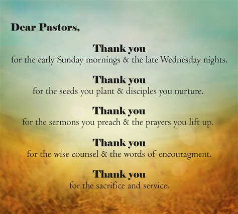 thank you letter to my on his retirement you said thank you to your pastor recently verses