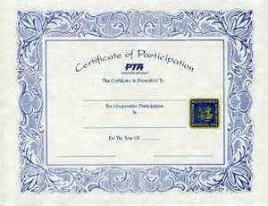 pta 195 reflections certificate of participation
