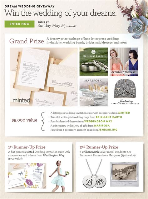 Wedding Giveaway Contest - stationery archives page 2 of 11 wedding day giveaways