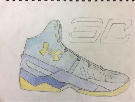 drawings of basketball shoes stephen curry shoe sketchbook drawing stephen curry