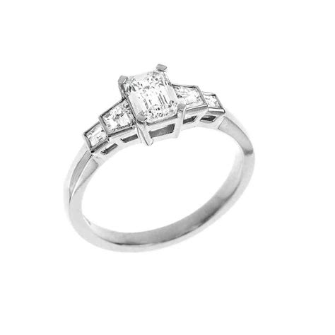 Square Engagement Rings by Platinum Square Engagement Rings Wedding And