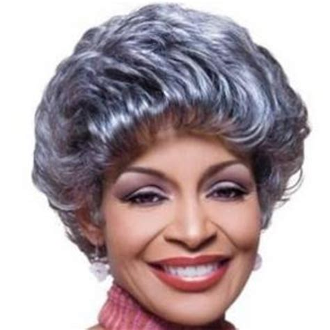 gray hair pieces african american 8 inch vogue short curly gray african american wigs for