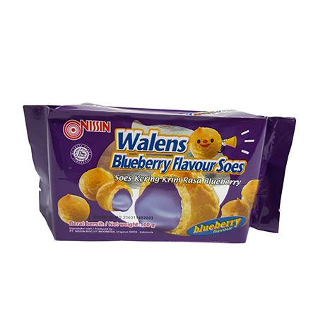 Nissin Walens Soes Blueberry 100g pt nissin biscuit indonesia