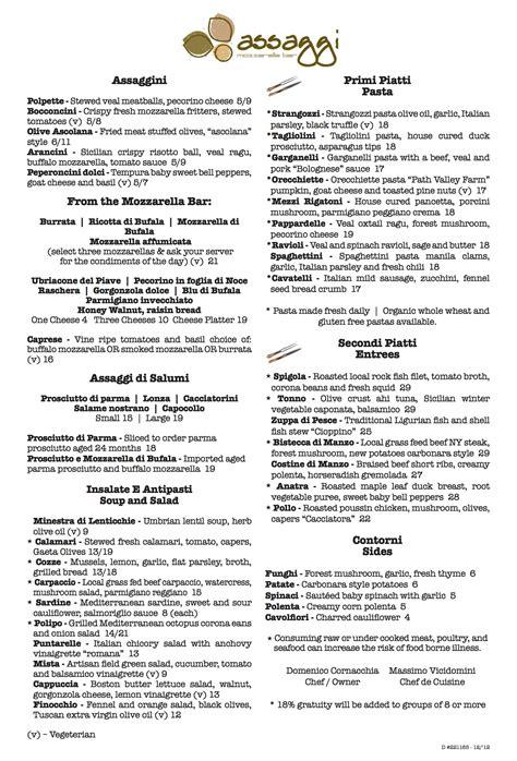dinner menus for 12 221165 assaggi dinner winter menu 12 12 assaggi