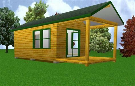 starter cabin  covered porch plans package