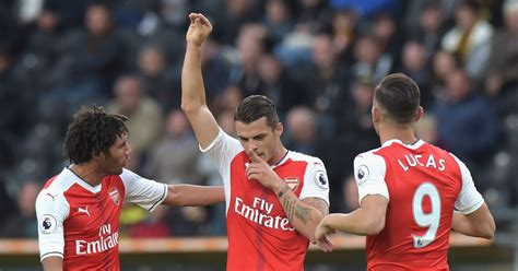 arsenal xhaka goal arsenal news granit xhaka goal celebration vs hull